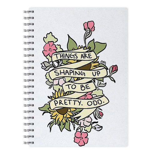 Things are Shaping up to be Pretty Odd Notebook - Fun Cases