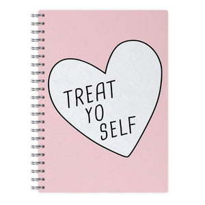 Treat Yo Self Heart - Parks and Recreation Notebook - Fun Cases