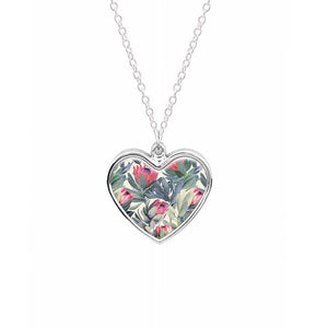 Painted Protea Pattern Necklace