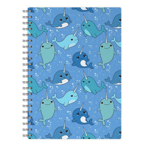 Narwhal Pattern Notebook - Fun Cases