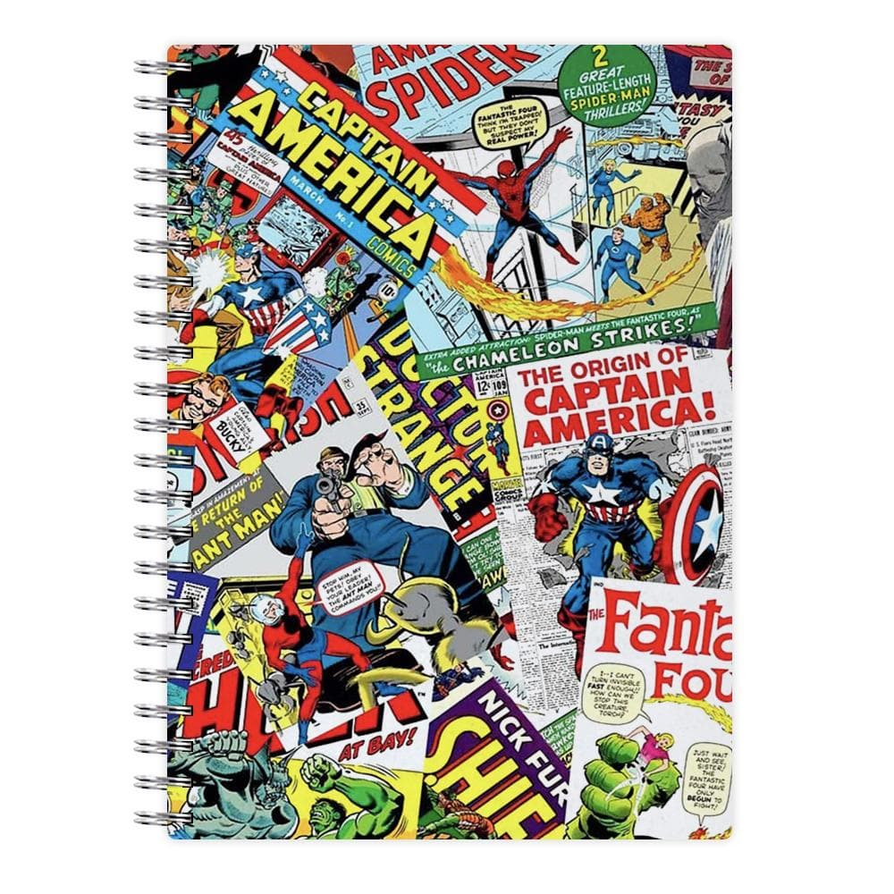 Marvel Comics Pattern Notebook - Fun Cases