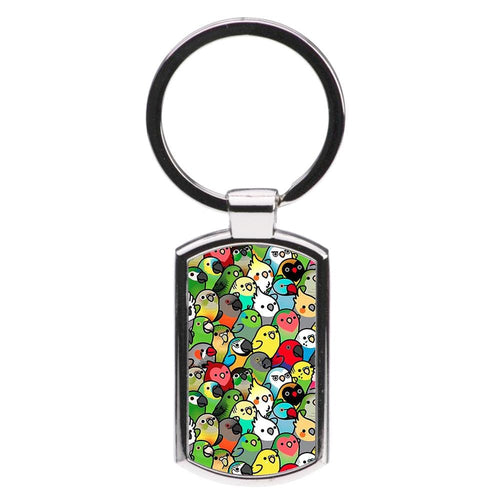 Everybirdy Pattern Luxury Keyring