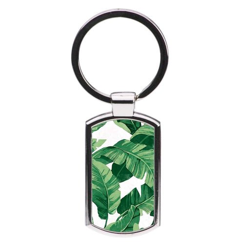 Tropical Banana Leaf Pattern Luxury Keyring