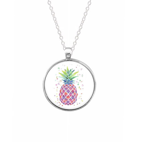 Watercolour Pineapple Keyring - Fun Cases