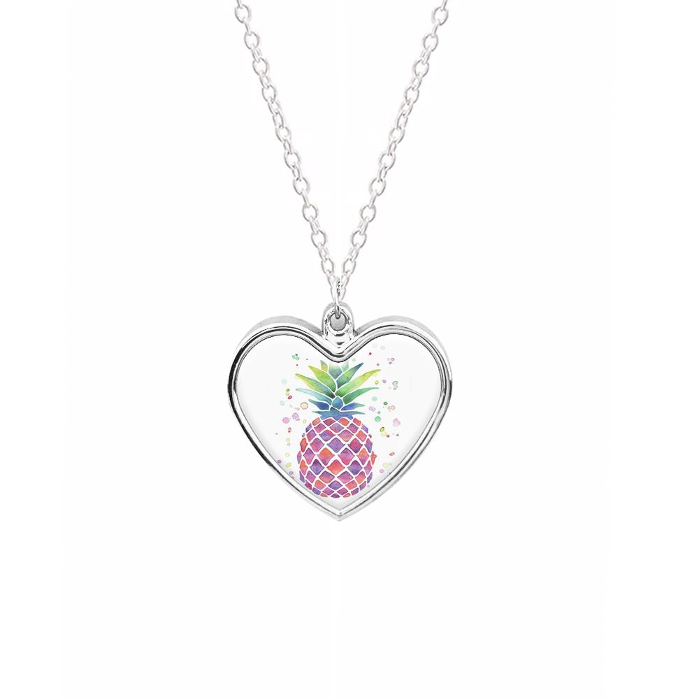 Watercolour Pineapple Necklace