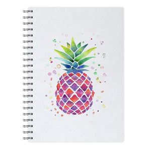 Watercolour Pineapple Notebook - Fun Cases