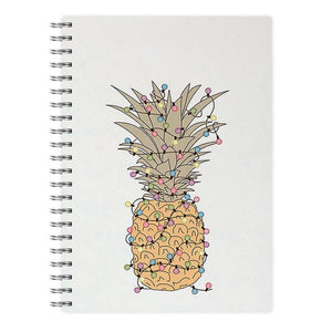 Pinapple Christmas Lights Notebook - Fun Cases