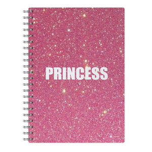 Glittery Pink Princess Notebook - Fun Cases