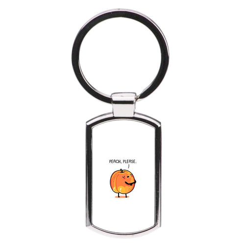 Peach, Please - Funny Pun Luxury Keyring