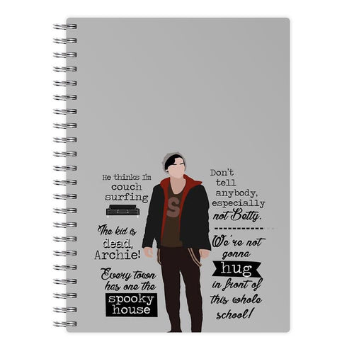 Jughead Quotes Riverdale Notebook - Fun Cases