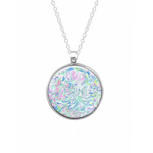 Colourful Floral Painting Necklace
