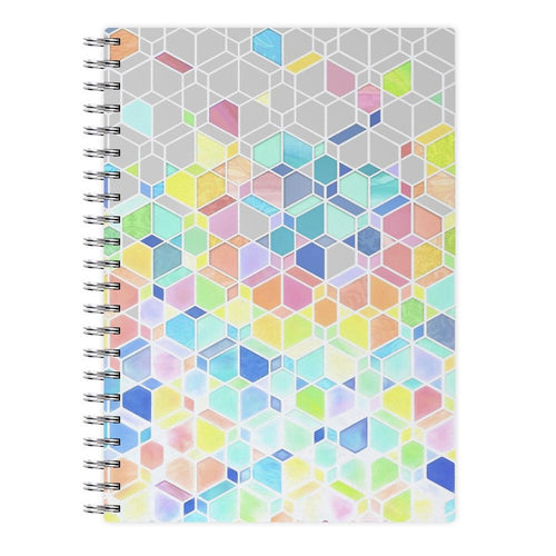 Bright Hexagon Pattern Notebook
