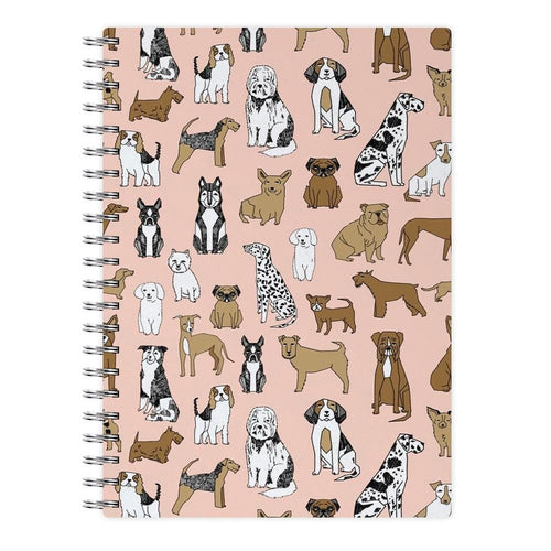 Dog Breeds - Animal Pattern Notebook