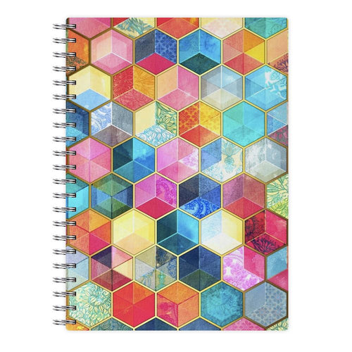 Colourful Honeycomb Pattern Notebook