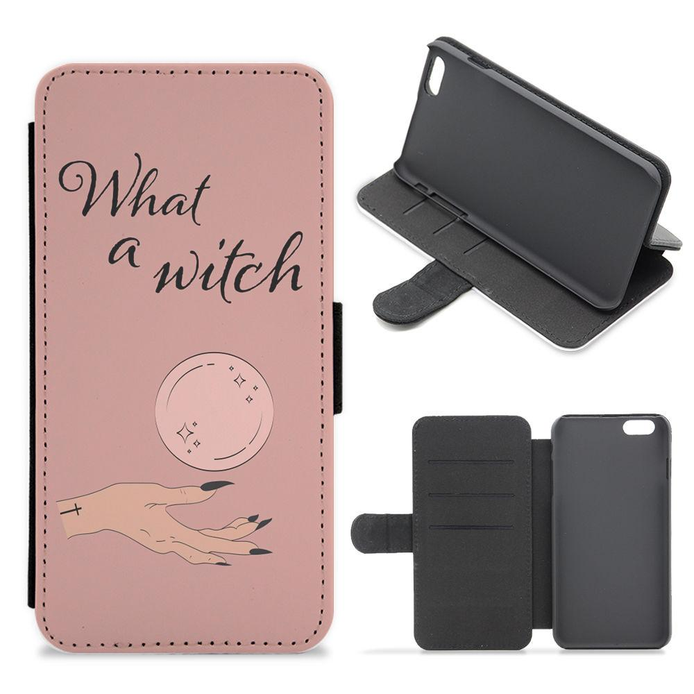 What A Witch - Halloween Flip / Wallet Phone Case