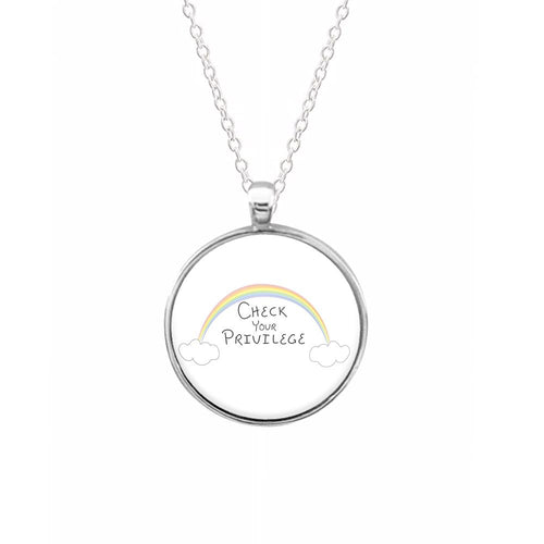 Check Your Privilege - Sex Education Necklace