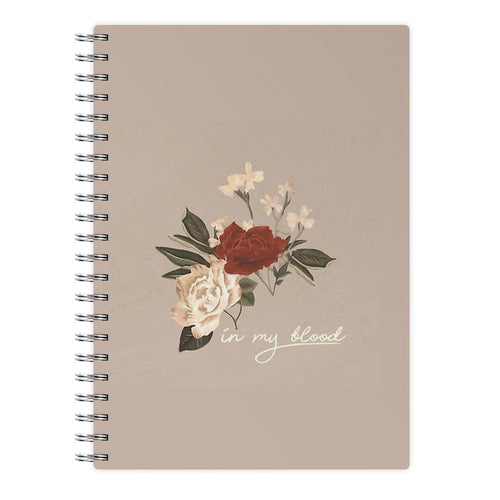 In My Blood Floral - Shawn Mendes Notebook