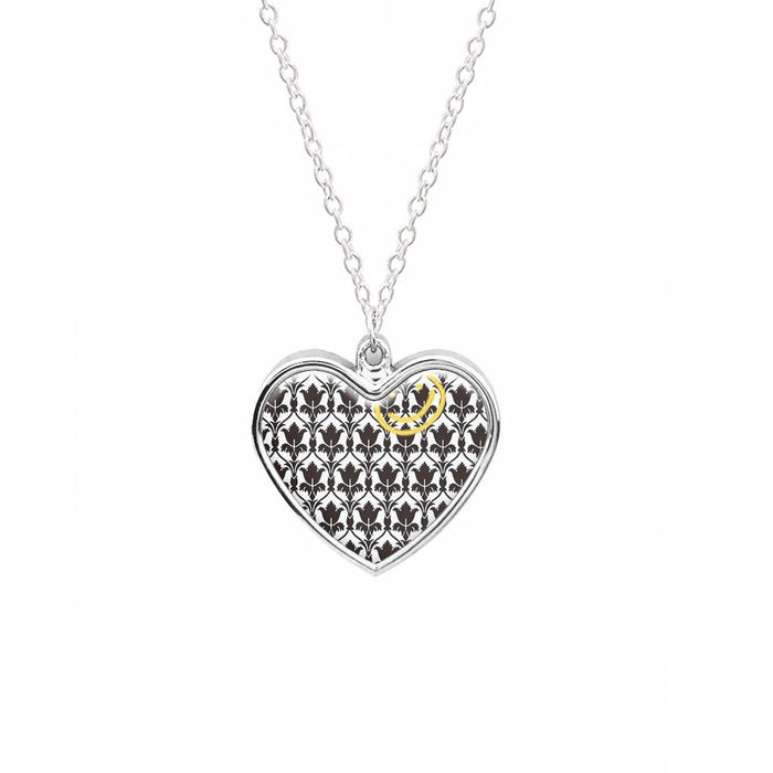 Sherlock Wallpaper Smile Necklace