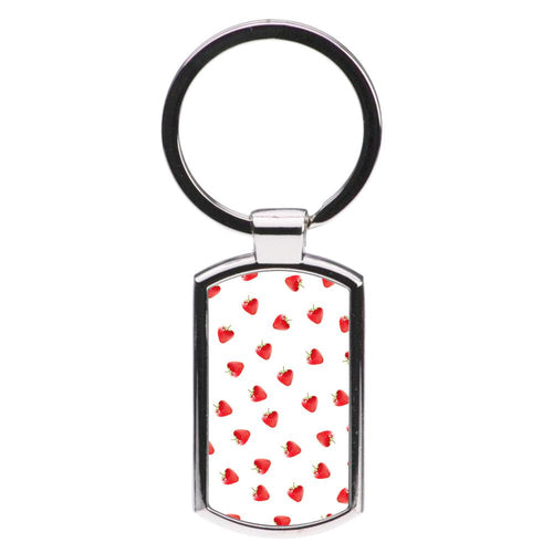 Strawberry Pattern Luxury Keyring