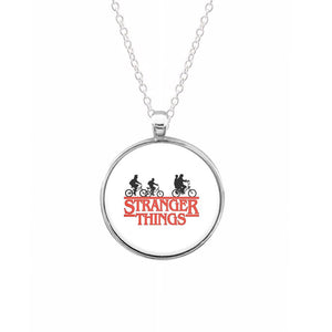 Stranger Things Cycling Logo Keyring - Fun Cases