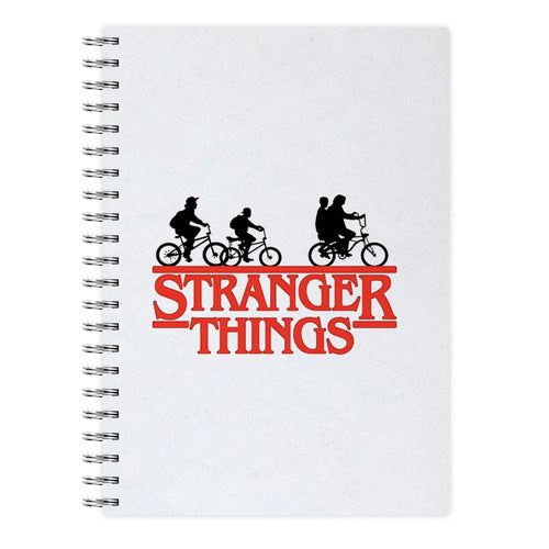 Stranger Things Cycling Logo Notebook - Fun Cases