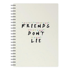 Friends Don't Lie Lights - Stranger Things Notebook - Fun Cases