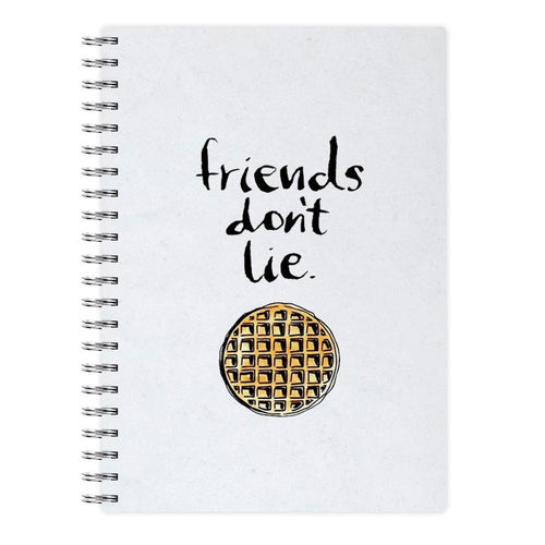 Friends Don't Lie Waffle - Stranger Things Notebook - Fun Cases