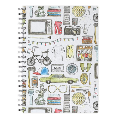 Stranger Things Objects Illustration Notebook - Fun Cases