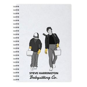 Steve Harrington Babysitting Co - Stranger Things Notebook - Fun Cases