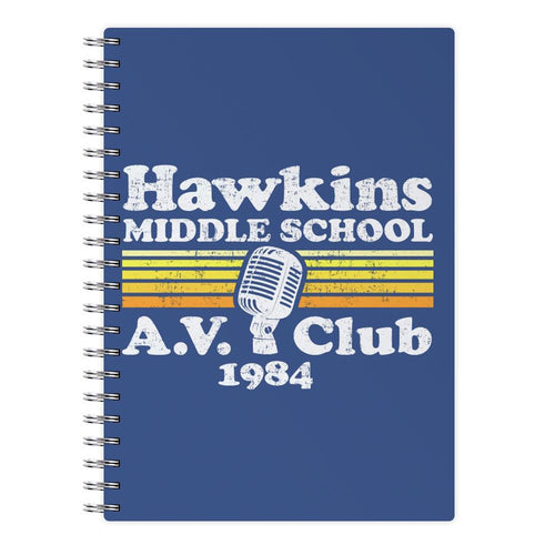 Hawkins Middle School AV Club - Stranger Things Notebook