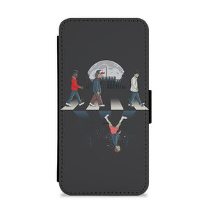 Upside Down Road - Stranger Things Flip / Wallet Phone Case