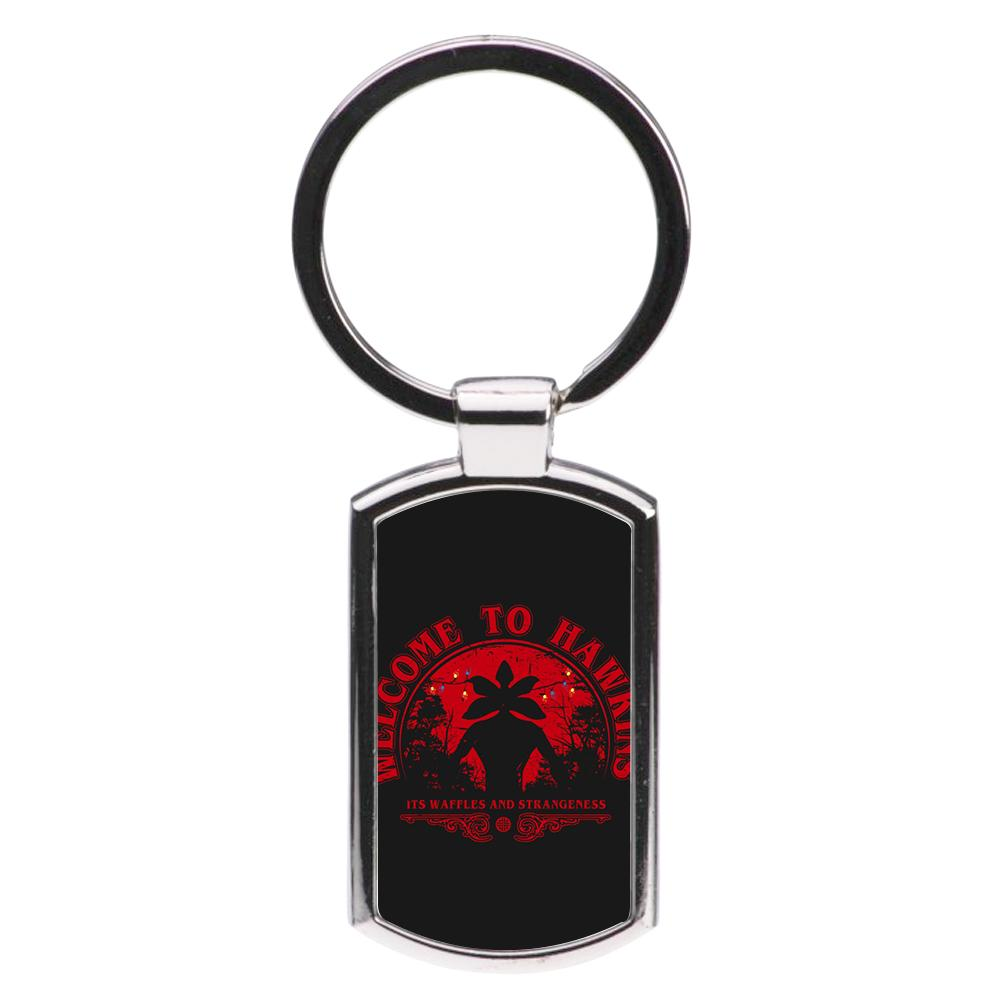 Welcome To Hawkings - Stranger Things Luxury Keyring