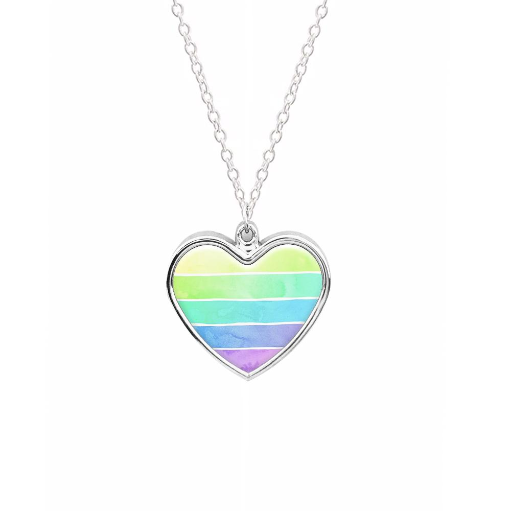 Summer Rainbow Stripes Necklace