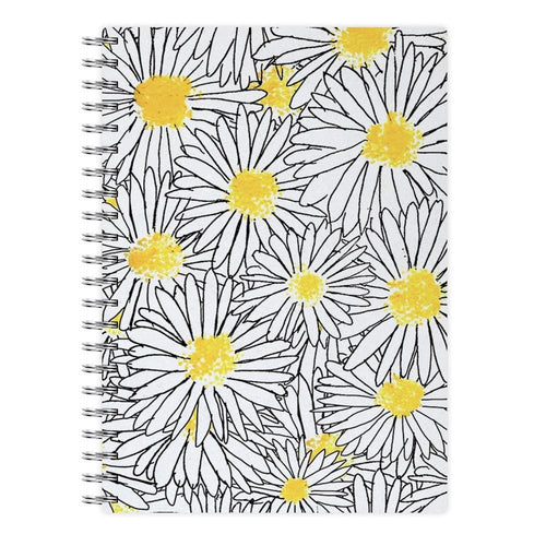 Cute Daisy Pattern Notebook - Fun Cases