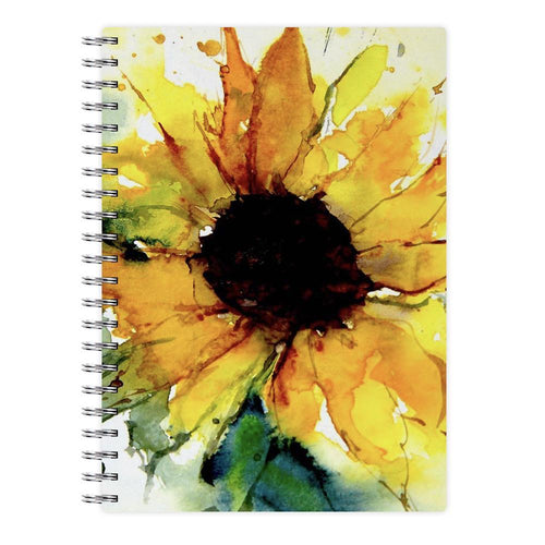 Watercolour Sunflower Notebook - Fun Cases