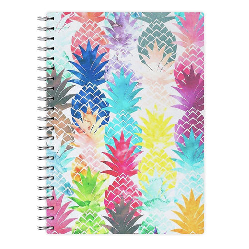 Watercolour Pineapple Pattern Notebook - Fun Cases
