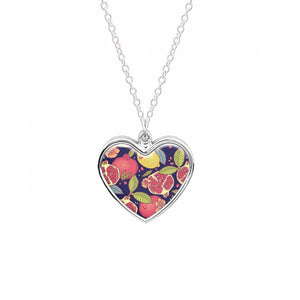 Tropical Garden Pattern Necklace