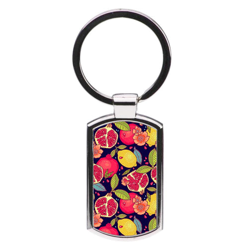 Tropical Garden Pattern Luxury Keyring