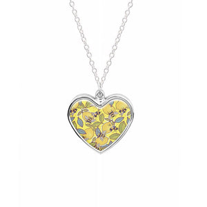 Yellow Lemon and Bee Necklace