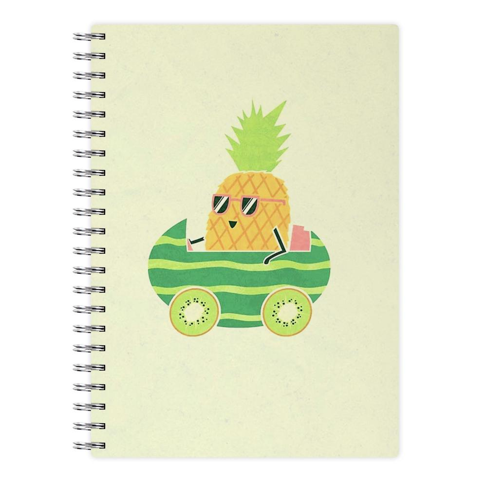 Summer Drive Pineapple Notebook - Fun Cases