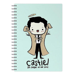 Castiel - Angel of the Lord - Supernatural Notebook - Fun Cases