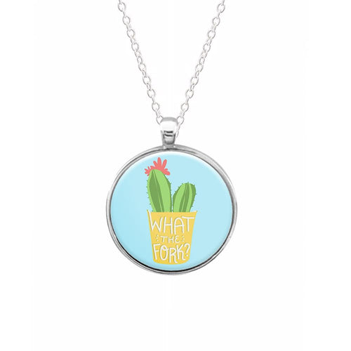 What The Fork Cactus - The Good Place Keyring - Fun Cases