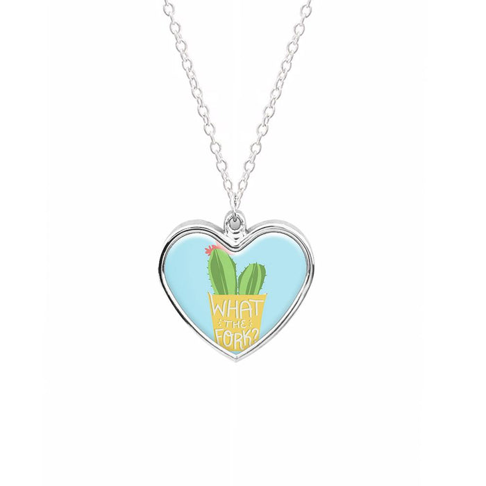 What The Fork Cactus - The Good Place Necklace