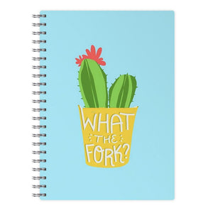 What The Fork Cactus - The Good Place Notebook - Fun Cases