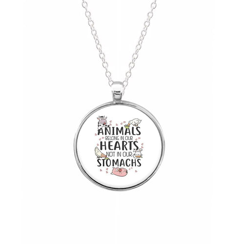 Animals Belong In Our Hearts - Vegan Keyring - Fun Cases