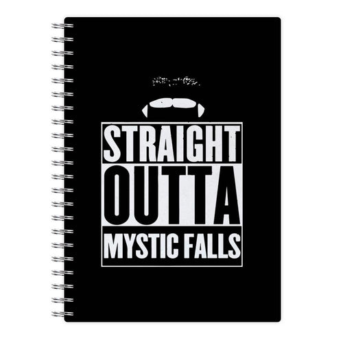 Straight Outta Mystic Falls - Vampire Diaries Notebook - Fun Cases