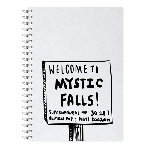 Welcome to Mystic Falls - Vampire Diaries Notebook - Fun Cases