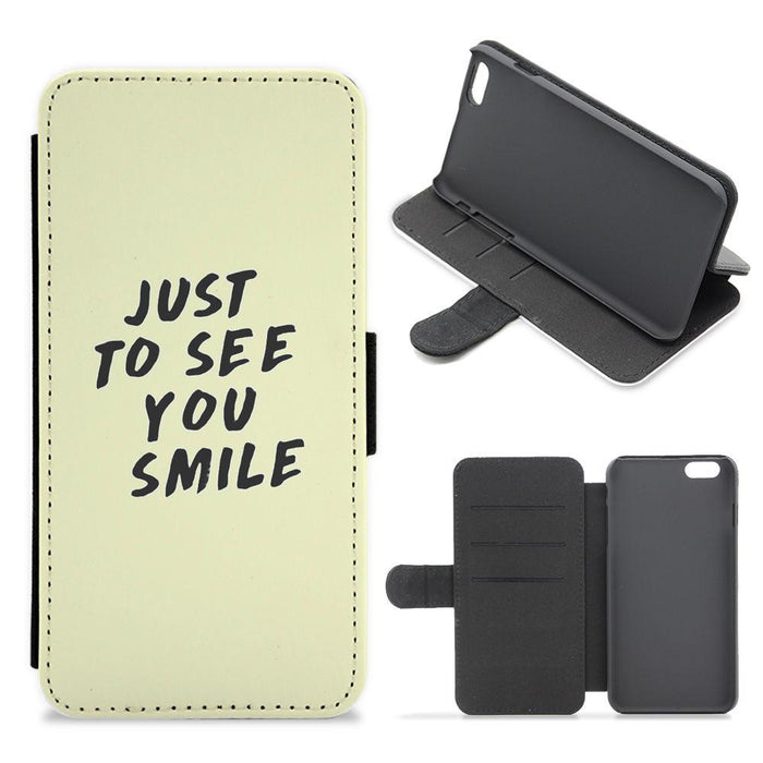 Just To See You Smile - Why Don't We Flip / Wallet Phone Case