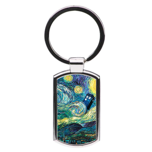 Starry Night Tardis - Doctor Who Luxury Keyring