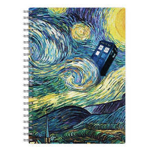 Starry Night Tardis - Doctor Who Notebook - Fun Cases